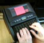 Rita_Hands_on_Steno_Machine